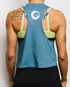Strength is a Choice Racerback Cropped Tank