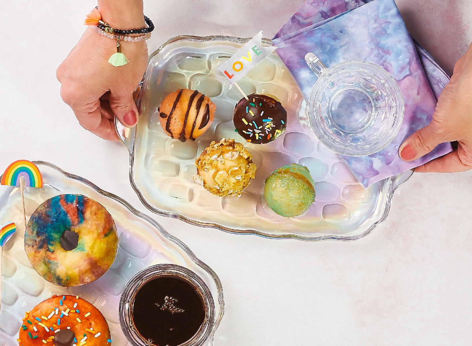 color me happy baked Donuts