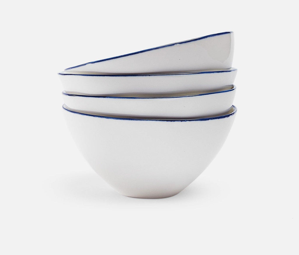 Tableau Blue Rim Medium Bowls - Set of 2 - lollygag