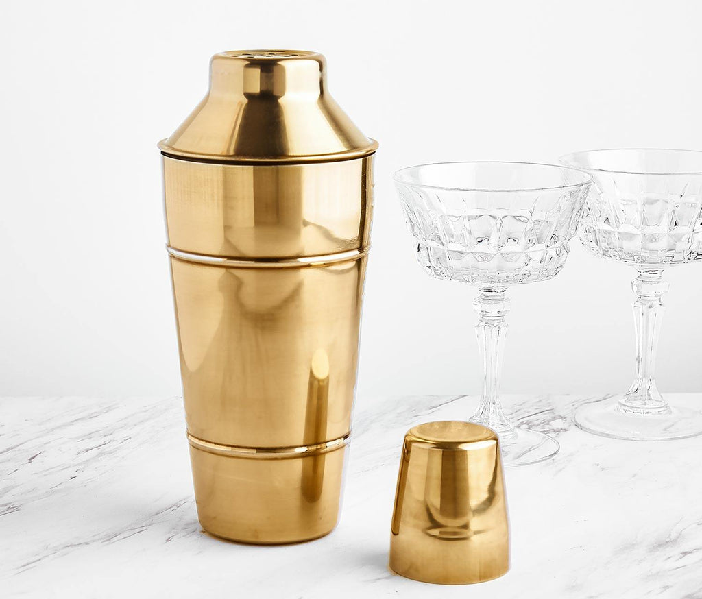 Antique Gold Cocktail Shaker - Barware - lollygag