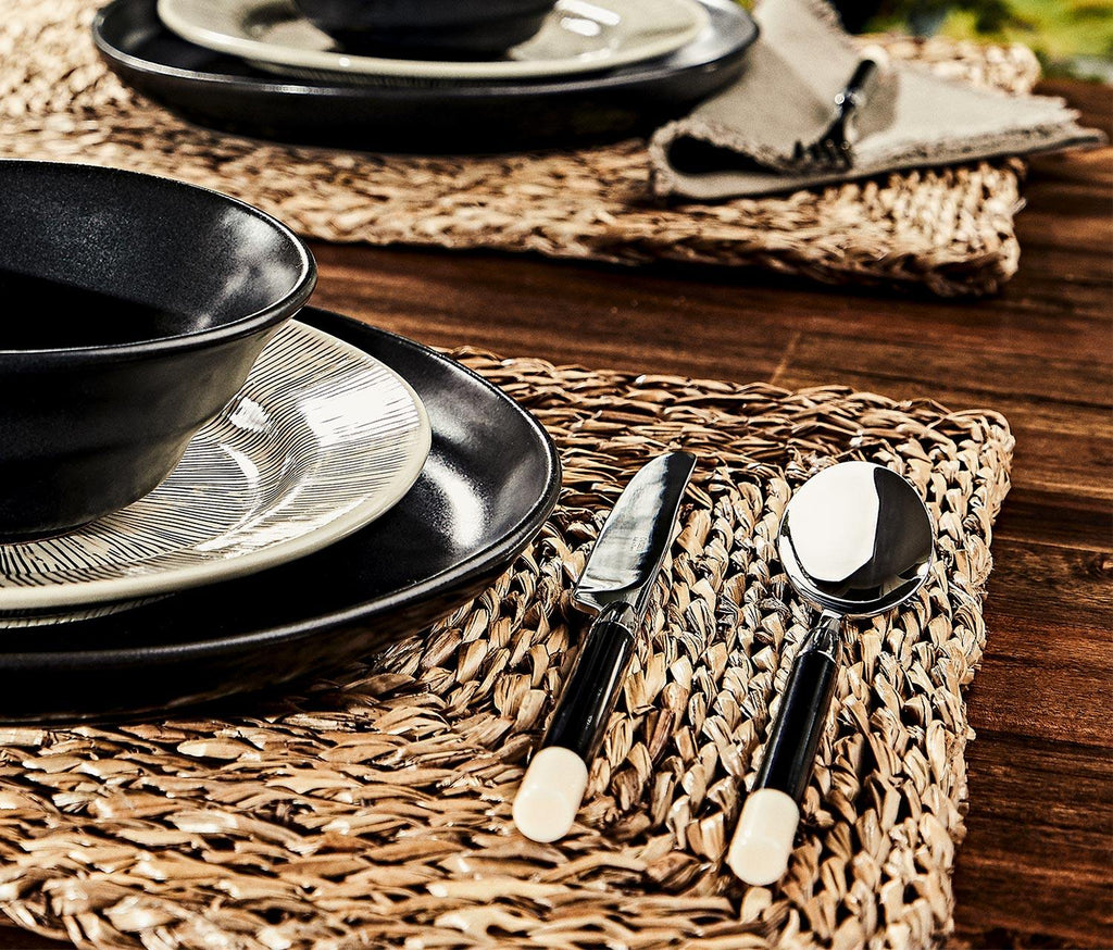 Capdeco Conty Black & Ivory 5-Piece Flatware - lollygag