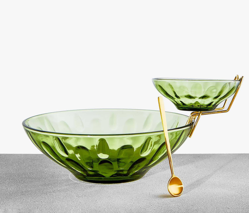 Cecelia Celadon Serving Bowl Set