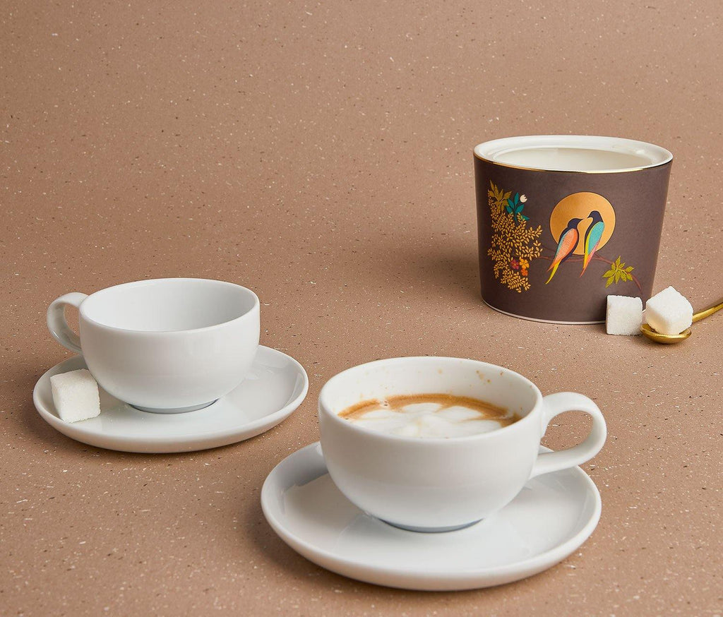 Charlotte White Espresso Cup & Saucer Set of 2 - lollygag