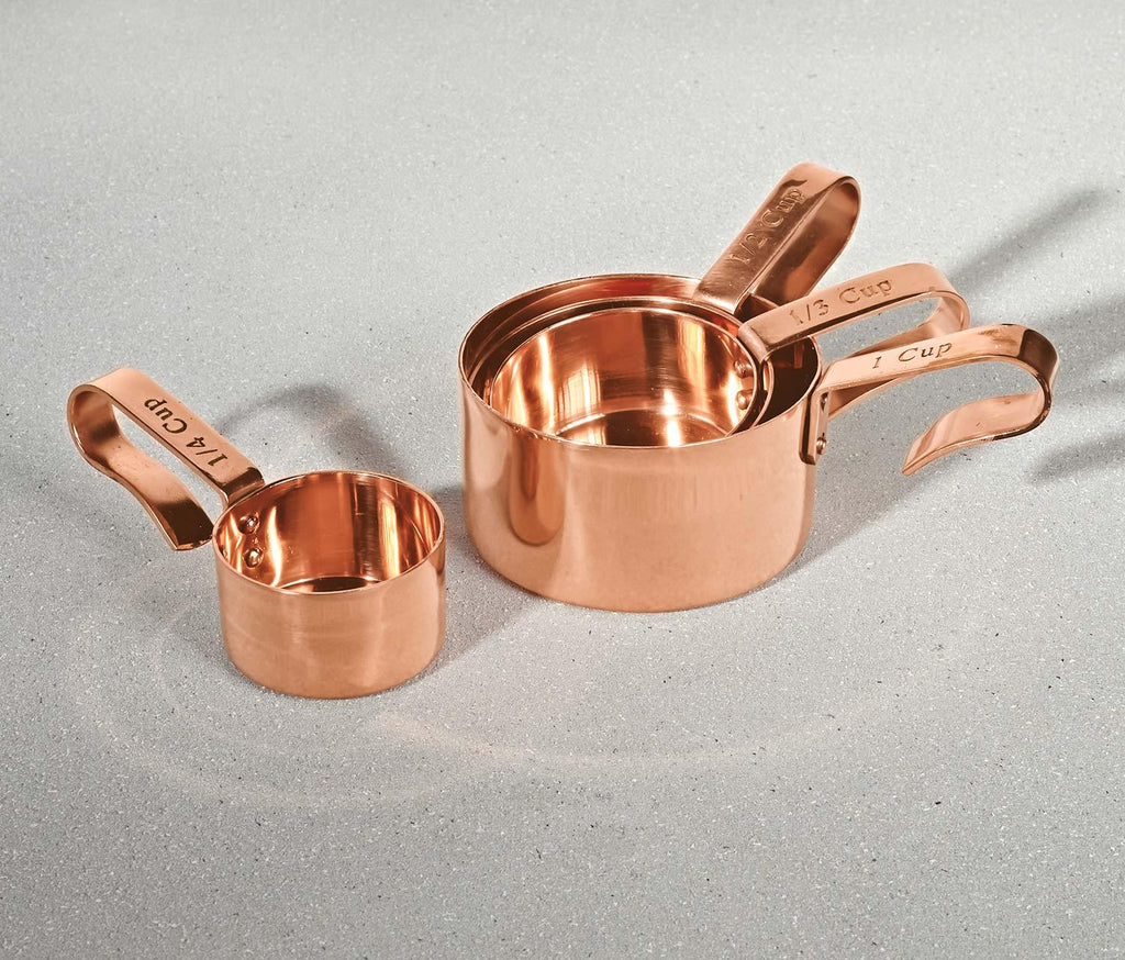 Copper Stackable 4 Measuring Cups - lollygag