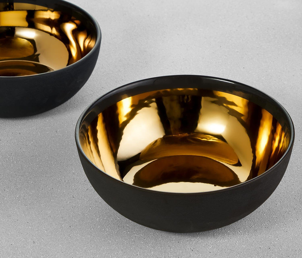 Dauville Large Metallic Bowls: Set of 2 - Lollygag.co