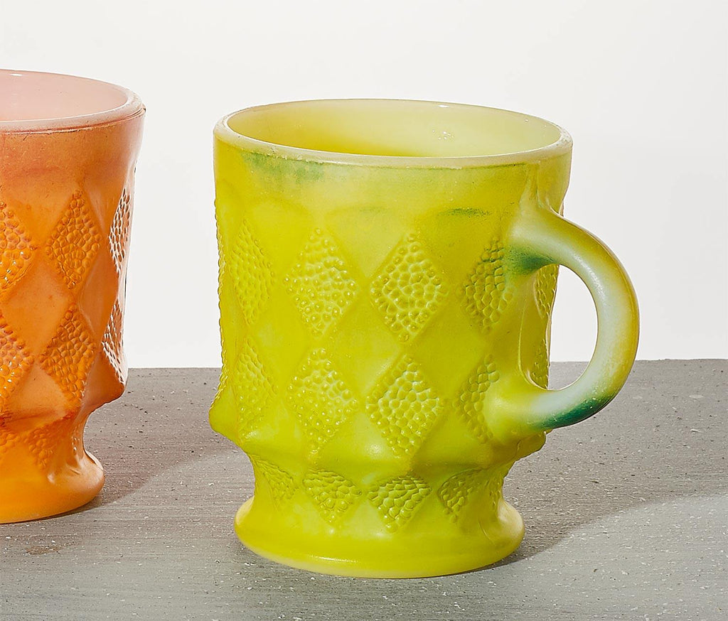 Fire King Harlequin Ombre Mugs Set of 2 - lollygag