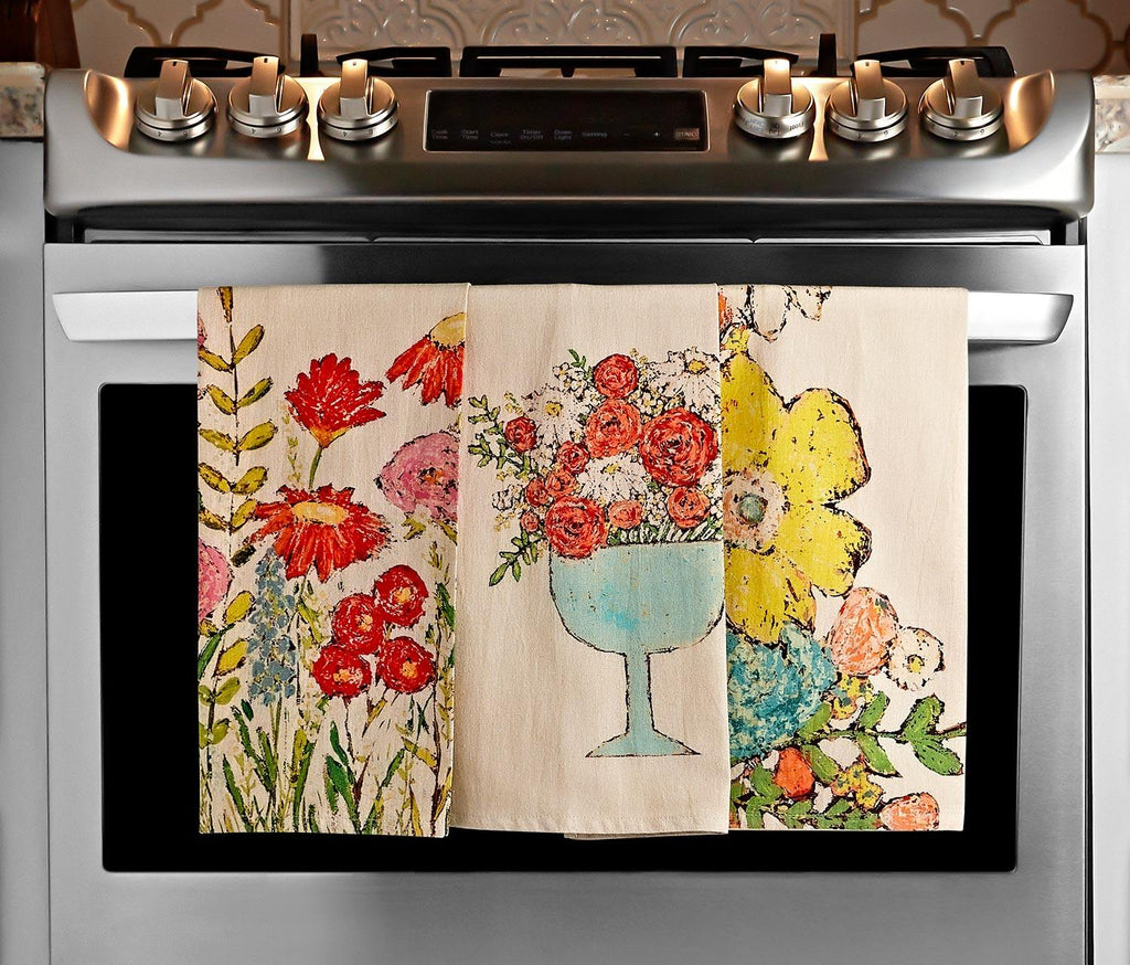 Giverny Garden Tea Towel Collection Set of 3 - lollygag
