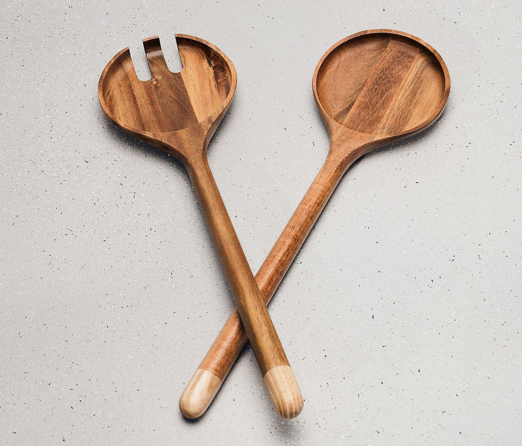 Globe Acacia Wood Serving Set