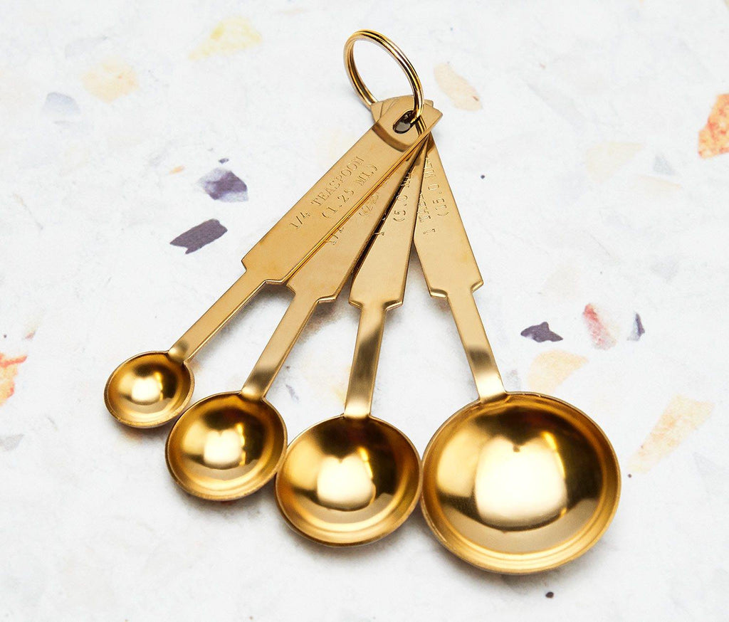 Hollywood Gold Measuring Spoons Set of 4 - lollygag