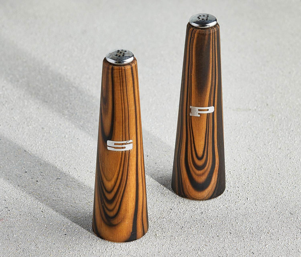 Mid Century Modern Wood Salt and Pepper Shakers - Lollygag.co
