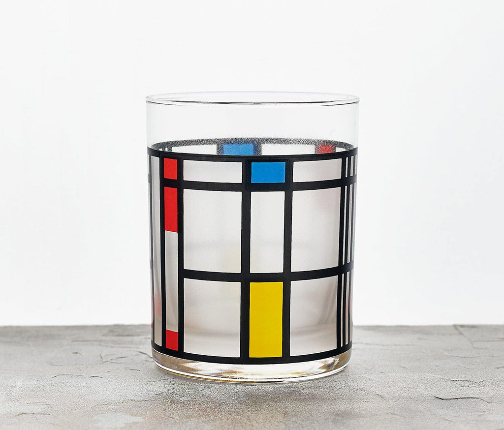 MOMA:Mondrian Beverage Glass/ Tumbler - Set of 2 - lollygag