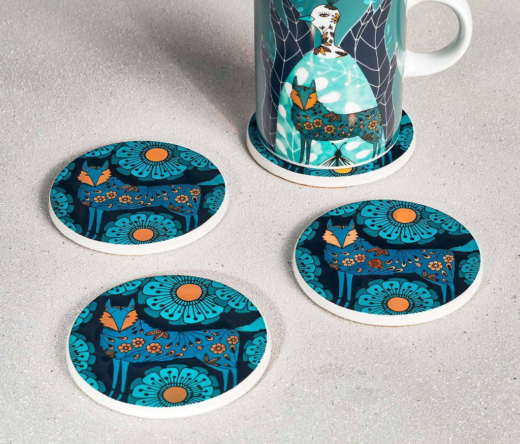 Mystical-Fox-Coasters-set