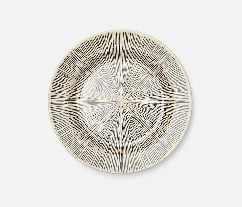 Nolan Black and Cream Broken Lines Salad Plate