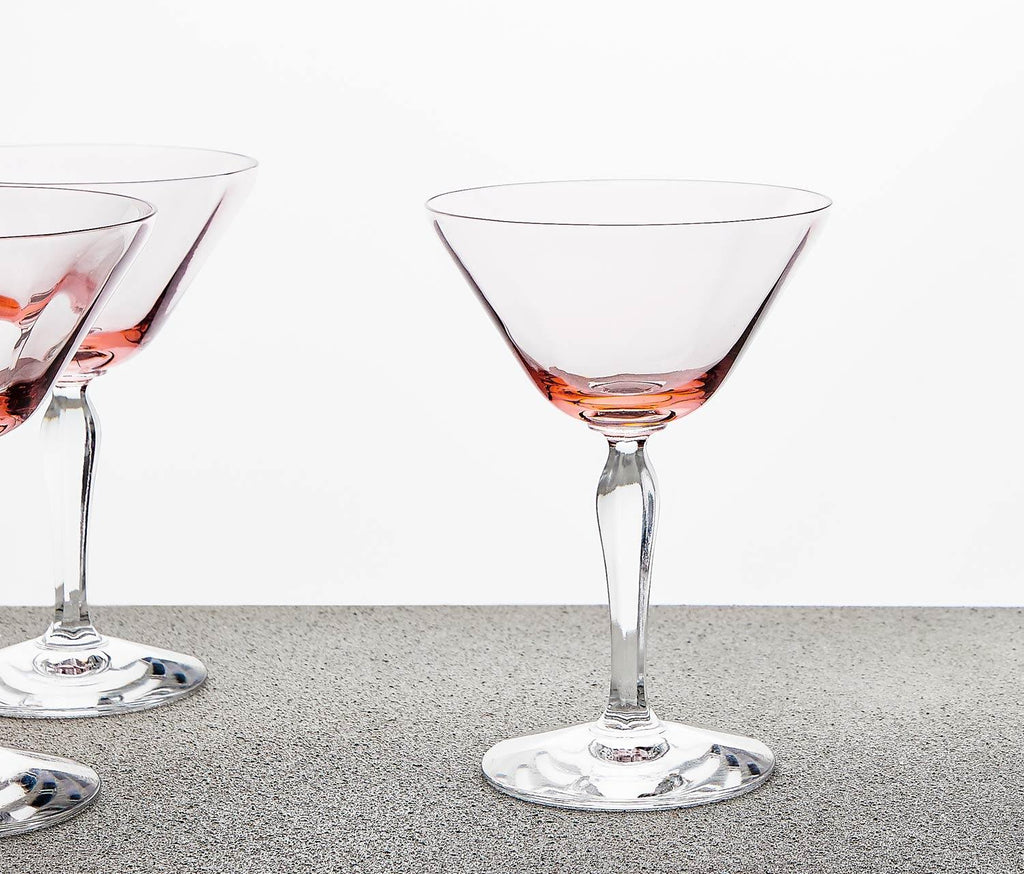 Pretty in Pink Coupe Glasses