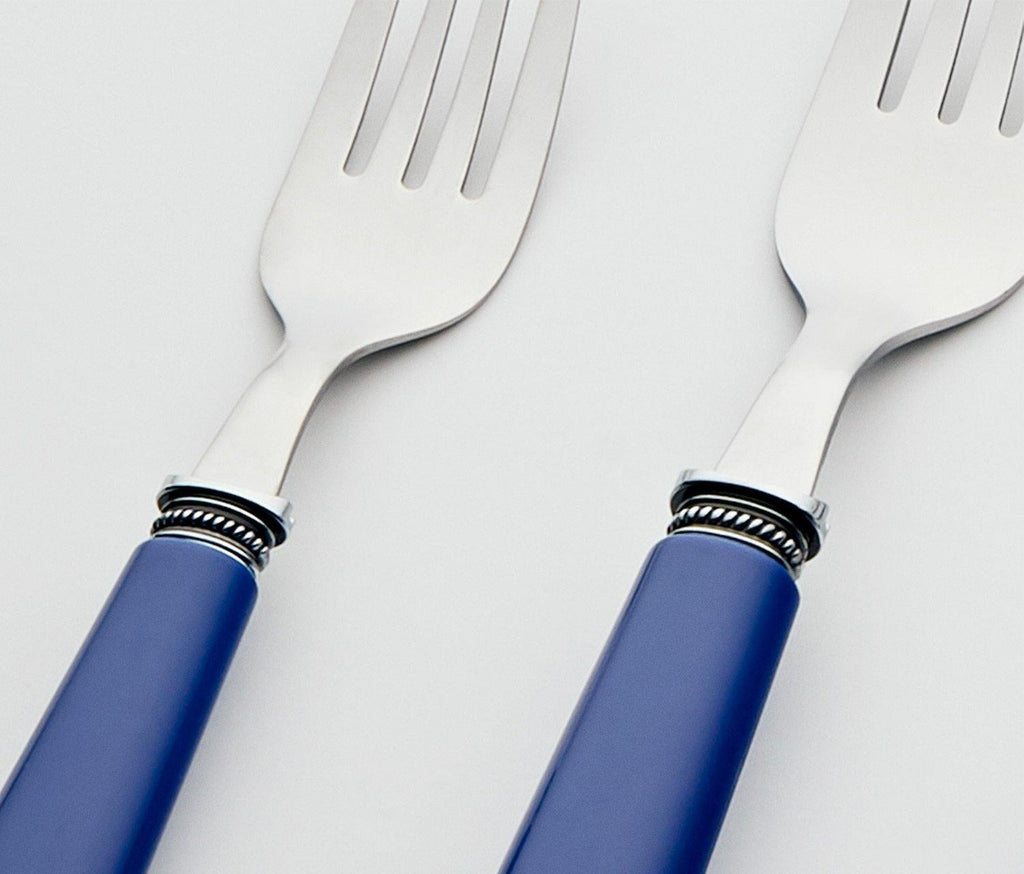 Provence 20-Piece Flatware Set with Caddy in Blue - lollygag