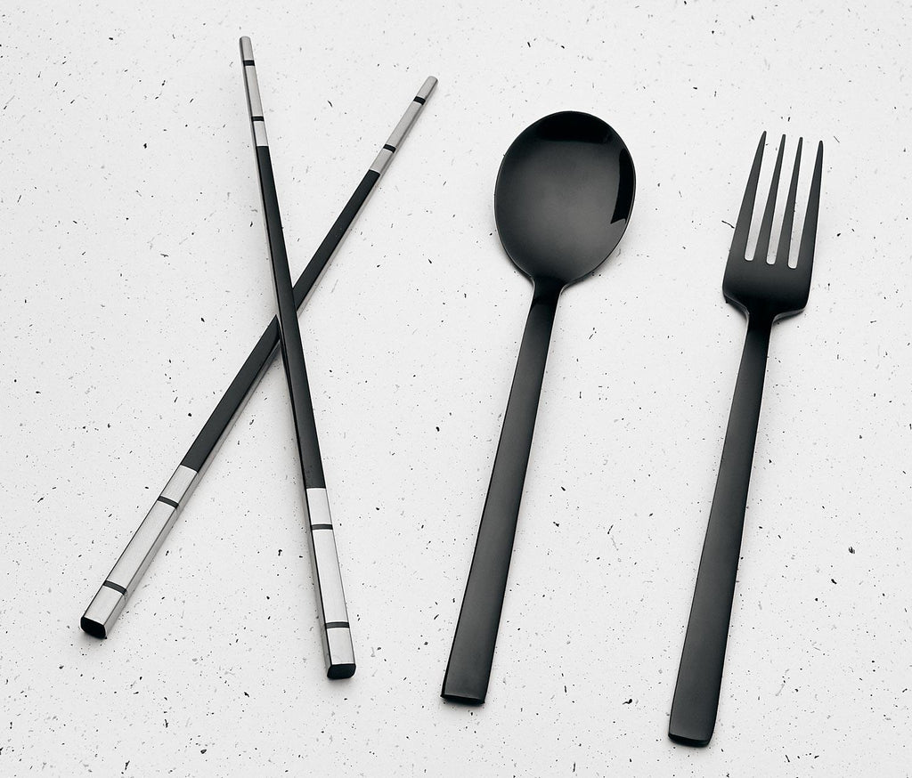 Black Reusable Travel Flatware Set - lollygag