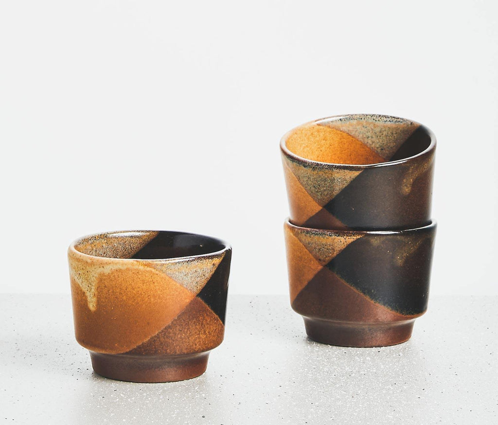 Robert Maxwell Abstract Wine/Sake Cups: Set of 3