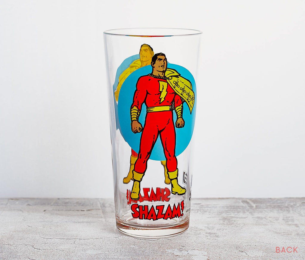 Shazam Moon Tall Glass - Vintage Dc Comics - lollygag