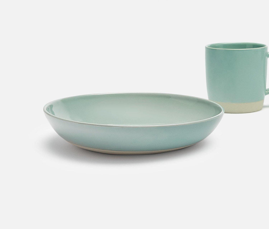 Shell Bisque Mist Large Low Bowl - Set of 2 - lollygag