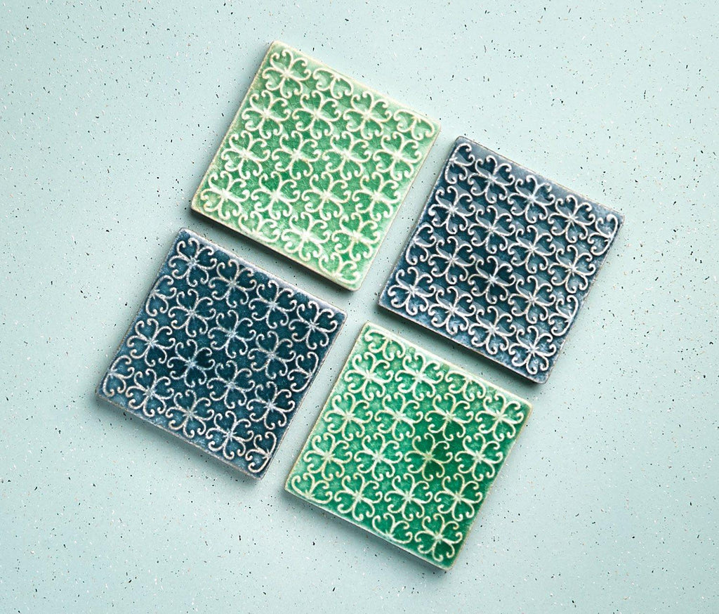 Provence Stoneware Coasters: Set of 4 - lollygag