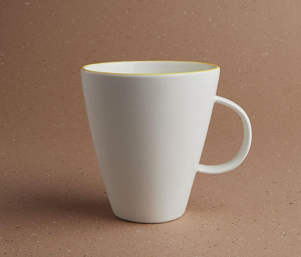 Tableau Yellow Rim Mug - lollygag