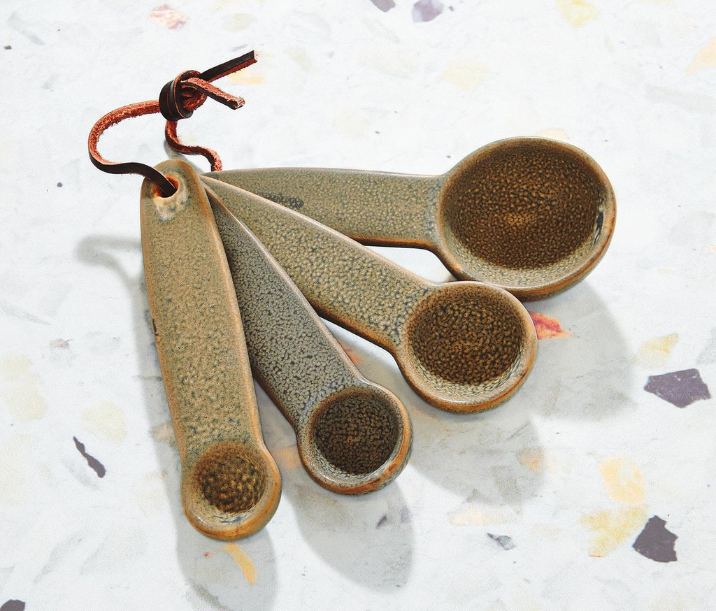 Zen Stoneware Measuring Spoons: Set of 4 - lollygag