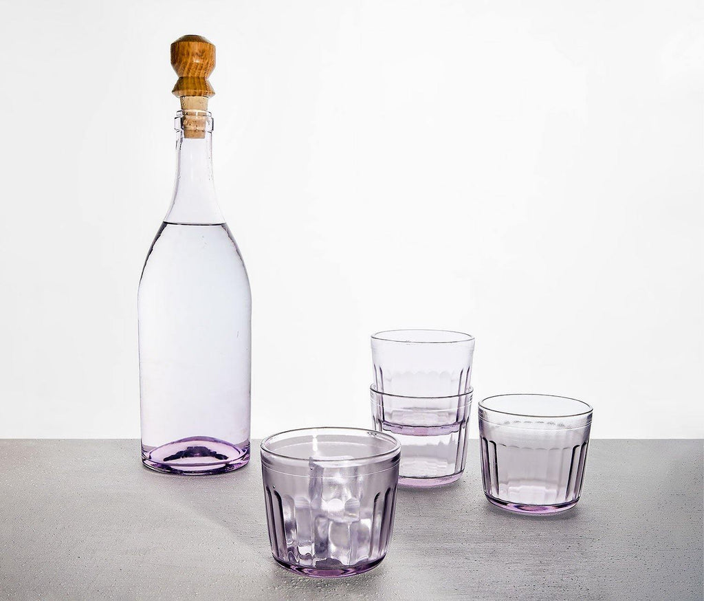 Bordeaux Carafe and Water Glass Set - Vintage Lilac - lollygag
