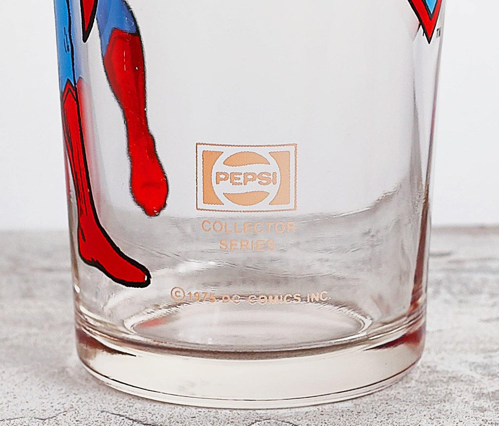 Superman Dc Comics Tall Glass - Vintage - lollygag