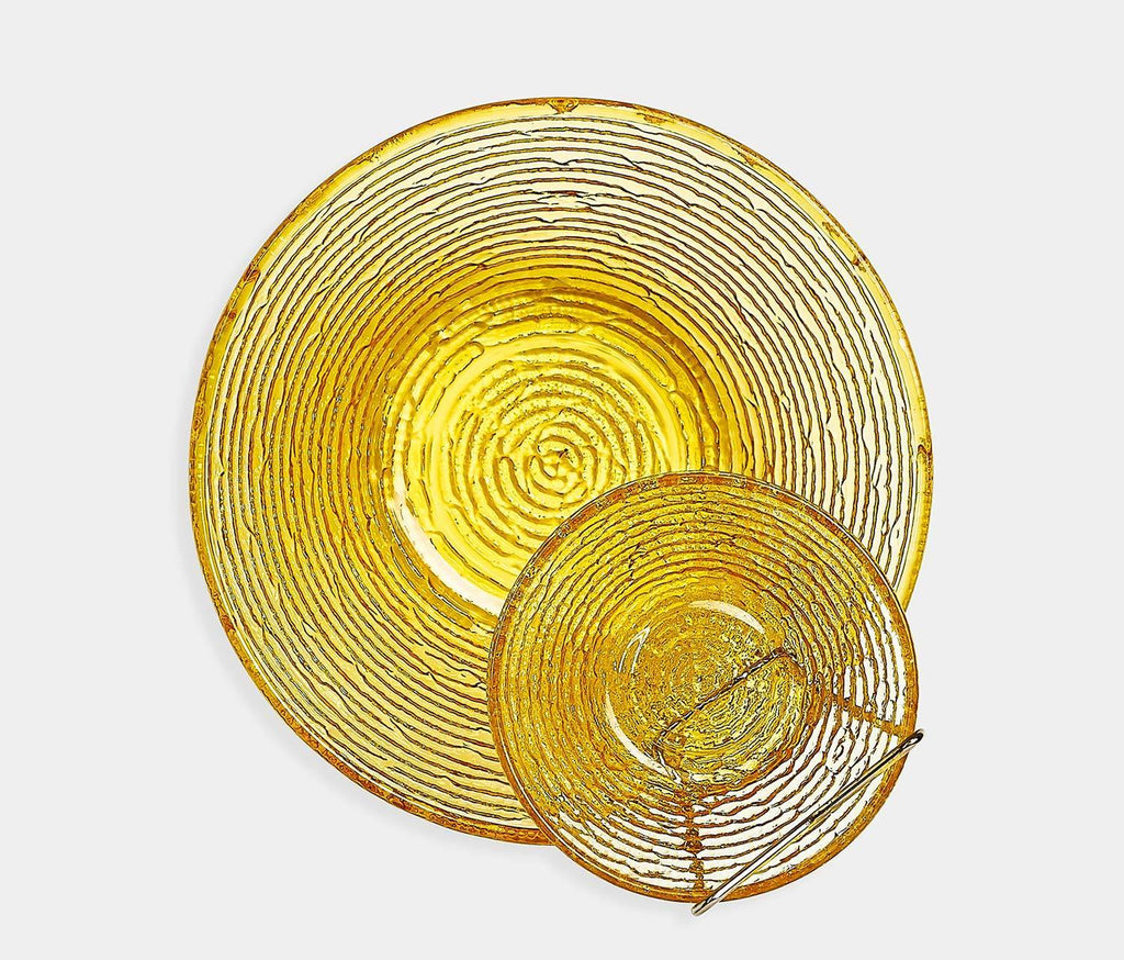 Soreno Amber Gold Serving Bowl