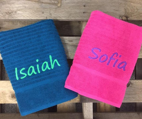 Towel With Embroidered Name