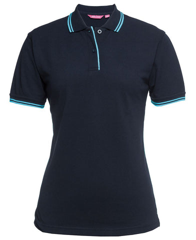 4 JB's Ladies Contrast Polos With Embroidered Logo