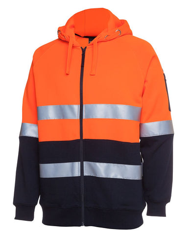 Hi Vis Day + Night Full Zip Fleecy Hoodie