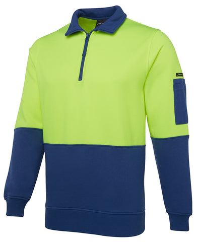 JB's Hi Vis 1/2 Zip Fleecy Sweater