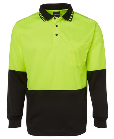 JB's Hi Vis L/S Traditional Polo