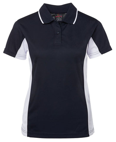 JB's Ladies Contrast Poly Polo