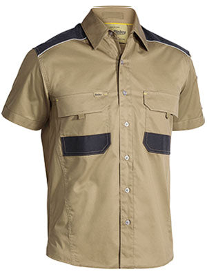 Bisley Flex & Move Mechanical Stretch Shirt - Short Sleeve
