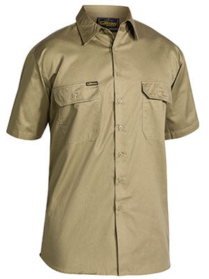 Bisley Cool Lightweight Drill Shirt - Short Sleeve