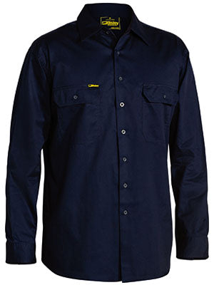 Bisley Cool Lightweight Drill Shirt - Long Sleeve