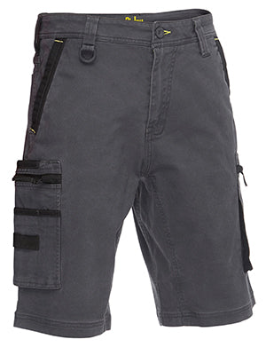 Bisley Flex & Move Stretch Utility Zip Cargo Shorts