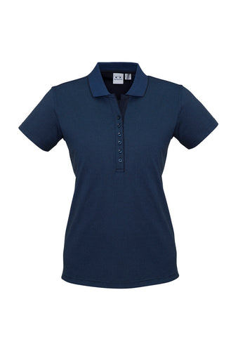 Biz Ladies Shadow Polo