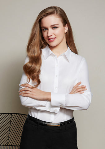 Biz Ladies Luxe Long Sleeve Shirt