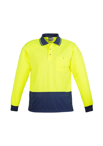 Syzmik Hi Vis L/S Basic Spliced Polo