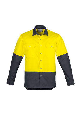 Syzmik Hi Vis Spliced Industrial Shirt L/S