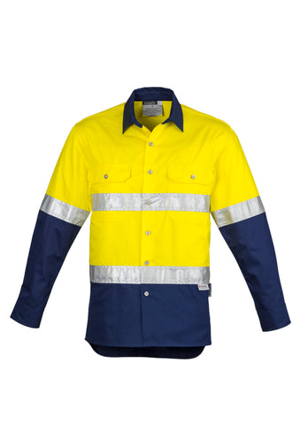Syzmik Hi Vis Spliced Industrial Shirt - Hoop Taped
