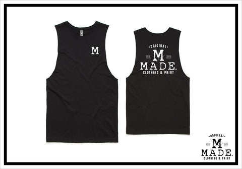 20 Printed AS Colour Tanks (front + back print)
