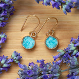 Gold Amazonite Infinity Drop Earrings