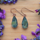 Rose Gold Vasonite Teardrop Earrings