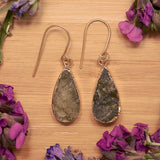 Gold Vasonite Teardrop Earrings