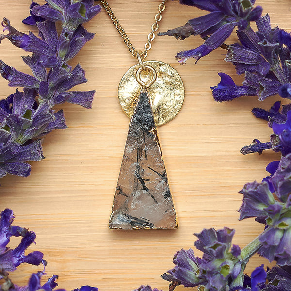 Gold Tourmalinated Quartz Unity Pendant