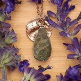 Rose Gold Vasonite Teardrop Pendant